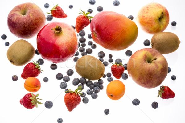 Variety Of Fruit Islolated On White Background Stock photo © leowolfert