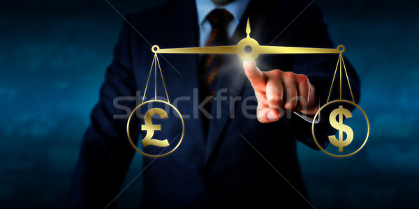 Trading The Pound Sterling At Par With The Dollar Stock photo © leowolfert