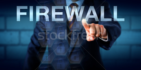 Berater Firewall Business Wort Touchscreen Stock foto © leowolfert