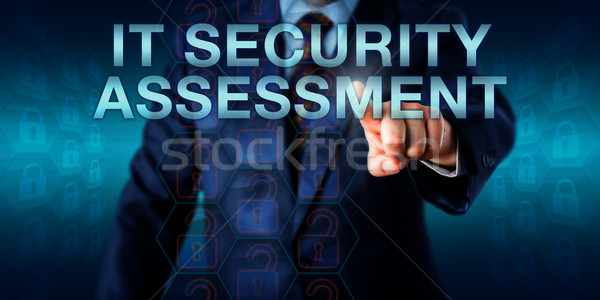 Manager Pressing IT SECURITY ASSESSMENT Stock photo © leowolfert