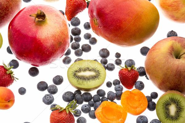 Ягоды другой фрукты белый Сток-фото © leowolfert