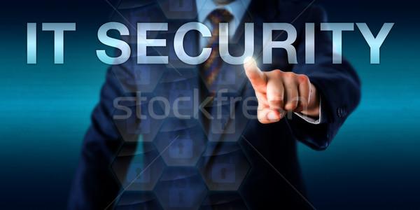 Przedsiębiorca bezpieczeństwa działalności garnitur słowo Zdjęcia stock © leowolfert