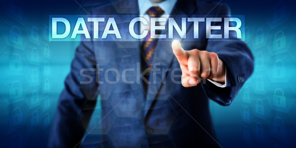 IT Manager Pressing DATA CENTER Onscreen Stock photo © leowolfert