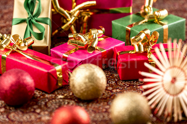 Gifts, Almost as Small as Christmas Baubles Stock photo © leowolfert