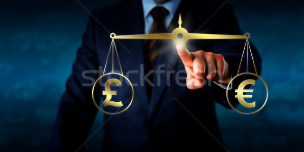 Trading The Pound Sterling At Par With The Euro Stock photo © leowolfert