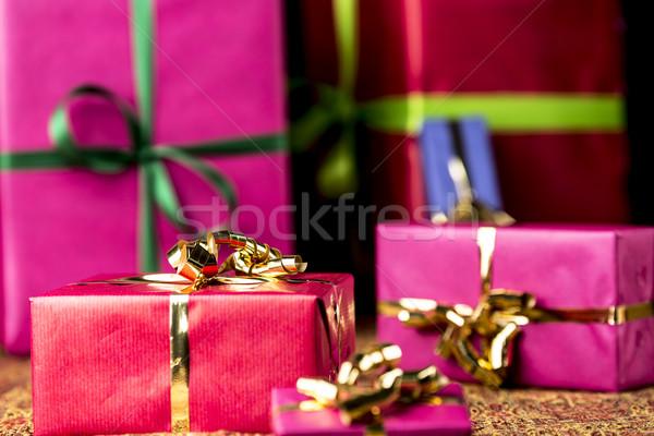 Rot Geschenk Paket andere präsentiert sechs Stock foto © leowolfert