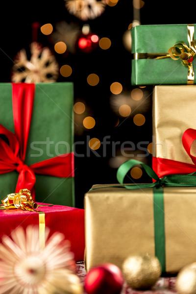 Natale regali stelle shot presenta regalo Foto d'archivio © leowolfert
