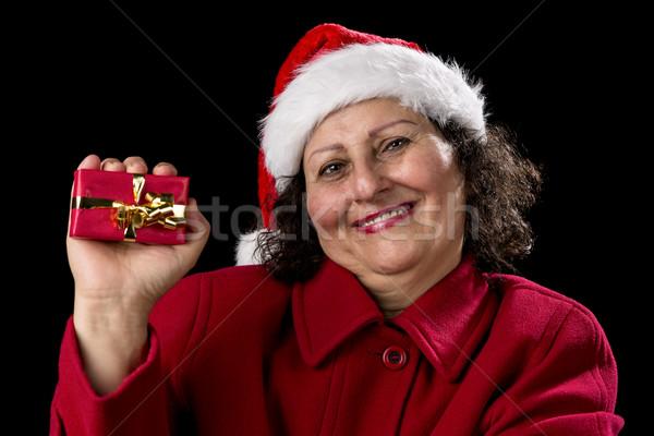 счастливым женщину красный рождество Сток-фото © leowolfert