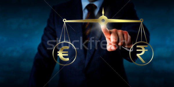 Stock photo: Trading The Euro At Par With The Indian Rupee