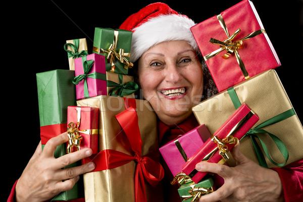 женщины старший подарки счастливым старуху Сток-фото © leowolfert