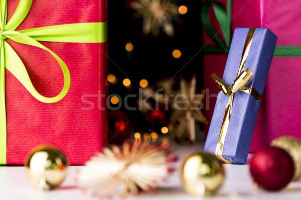Twinkles, presents, stars and baubles Stock photo © leowolfert