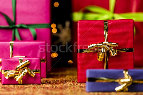 Six Gifts with Bow Knots Stock photo © leowolfert
