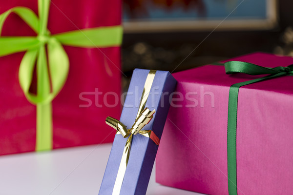 Wrapped gifts Stock photo © leowolfert