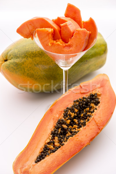 Papaya - a popular breakfast fruit Stock photo © leowolfert