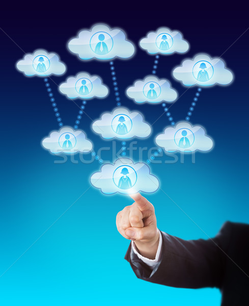 Accessing The Support Of Many Workers In The Cloud Stock photo © leowolfert