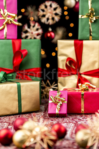 Xmas Gifts Handed Out Stock photo © leowolfert