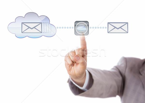 Hand Mirroring Data Via The Cloud Stock photo © leowolfert