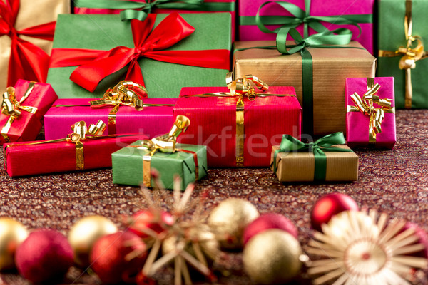 Handing Out of Christmas Gifts Stock photo © leowolfert