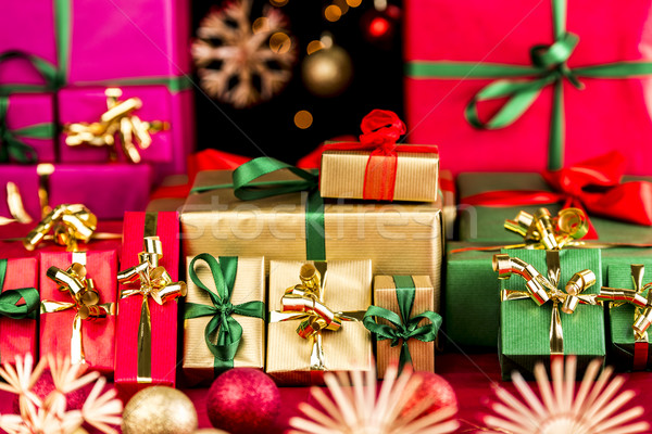 Many Christmas Presents Grouped by Color Stock photo © leowolfert