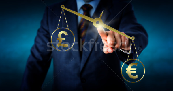 Euro Outbalancing The British Pound Sterling Stock photo © leowolfert