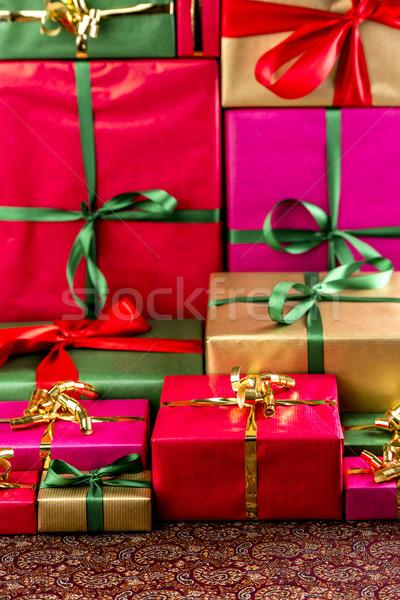 подарки куча представляет ткань Сток-фото © leowolfert