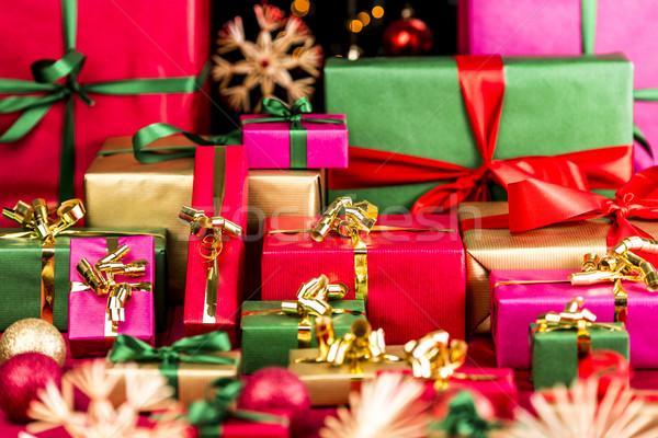 Plenty of Xmas Gifts Piled Up Stock photo © leowolfert