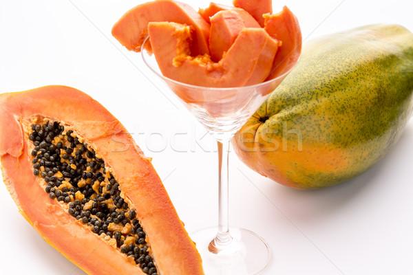 Yellow, orange and green - the Papaya fruit Stock photo © leowolfert