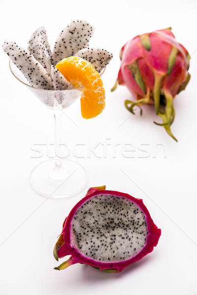 Fruit pulp of the strawberry pear Stock photo © leowolfert