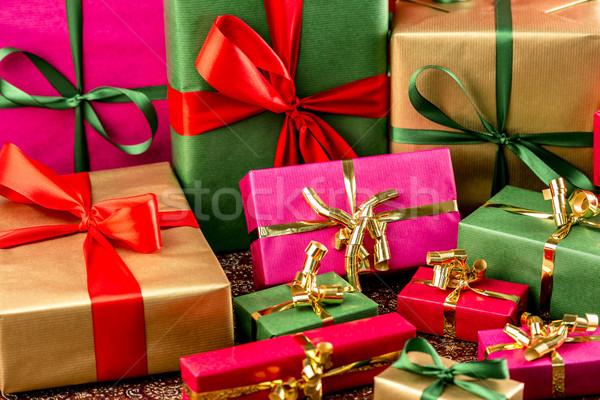 Multitude of Wrapped Gifts Stock photo © leowolfert