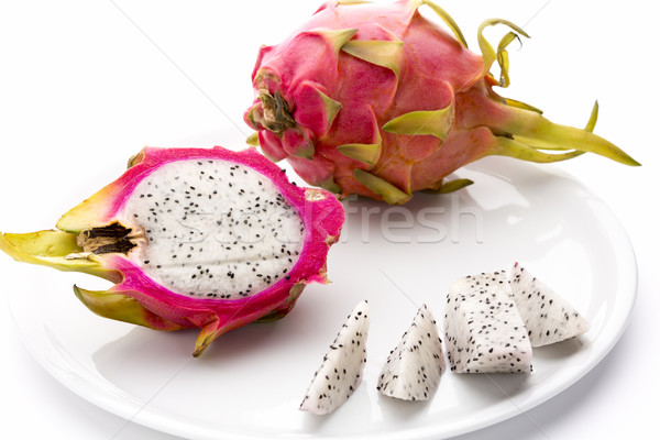 Pitaya Fruit Chips, A Half And An Entire Fruit Stock photo © leowolfert