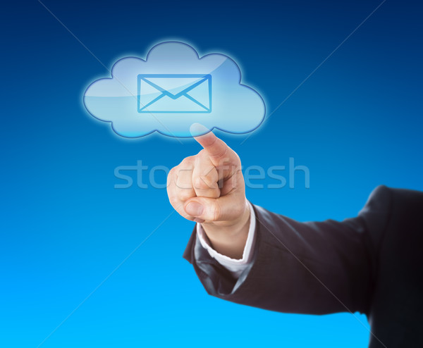 Corporate Person Touching Email In Cloud Symbol Stock photo © leowolfert