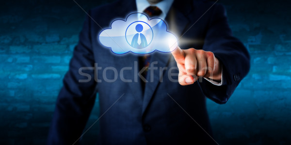 Management Contacting A Male Peer In The Cloud Stock photo © leowolfert