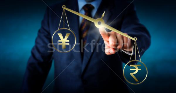Indian Rupee Outbalancing The Yen Or Yuan Stock photo © leowolfert