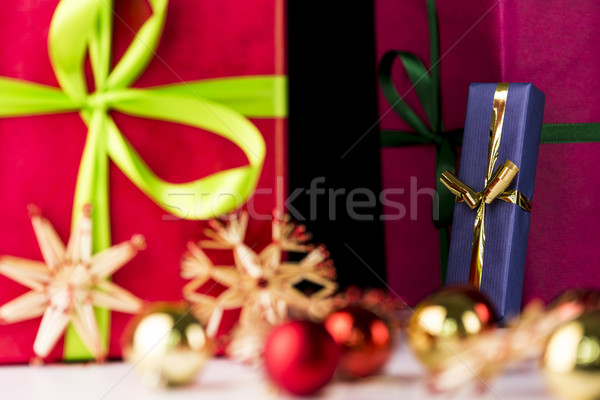 Gifts, spheres and stars Stock photo © leowolfert