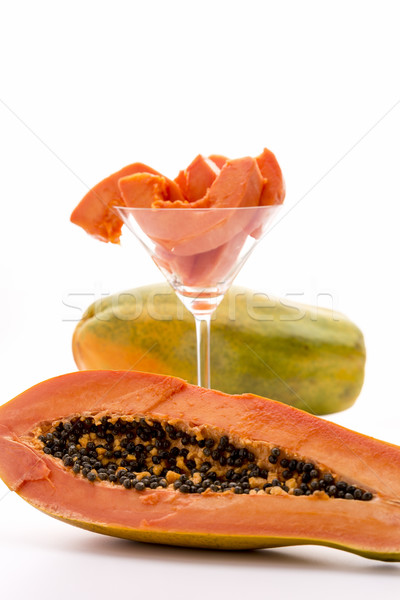 An oblong edible fruit - the Papaya Stock photo © leowolfert