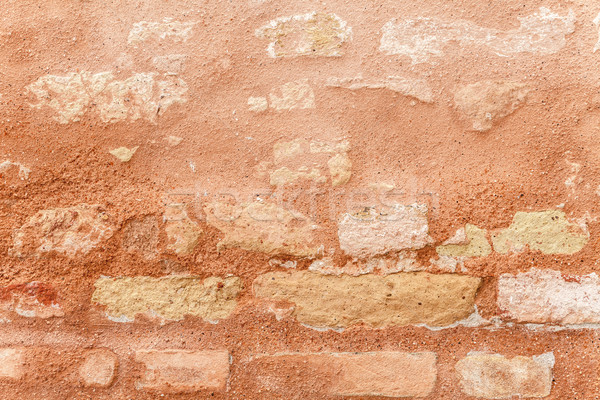 Textuur oude muur middeleeuwse warm Stockfoto © leowolfert