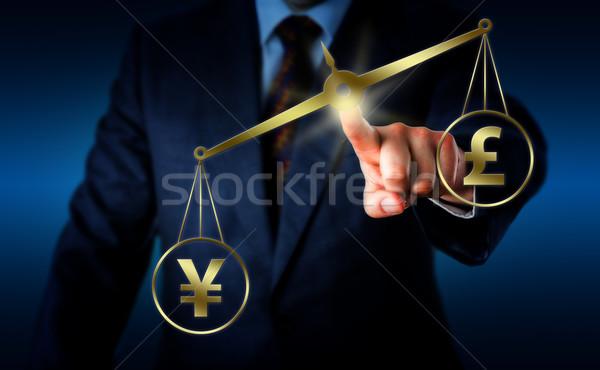 Podpisania funt równowagi Chiny brytyjski symbol Zdjęcia stock © leowolfert