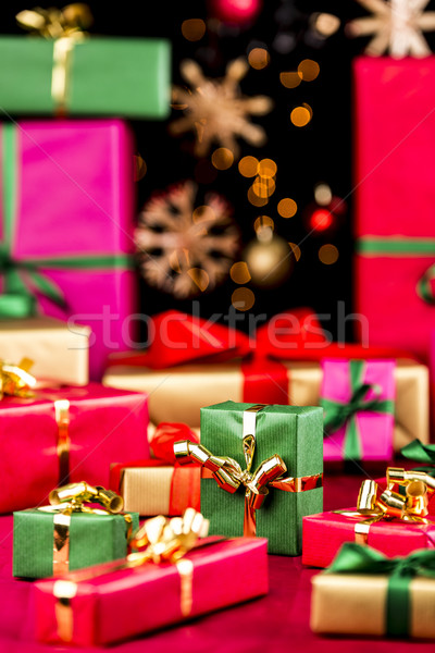 Plenty of Single-Colored Xmas Presents Stock photo © leowolfert