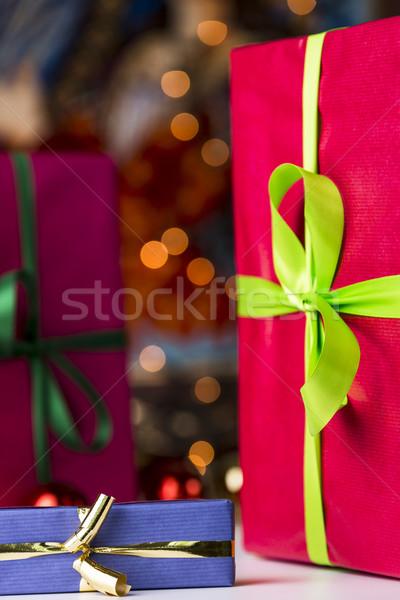 Presents and twinkles Stock photo © leowolfert