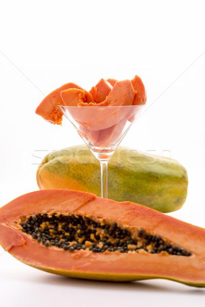 Fully ripe papaya for desert Stock photo © leowolfert