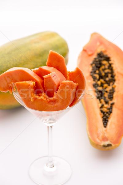 A succulent juicy snack - the Pawpaw fruit Stock photo © leowolfert