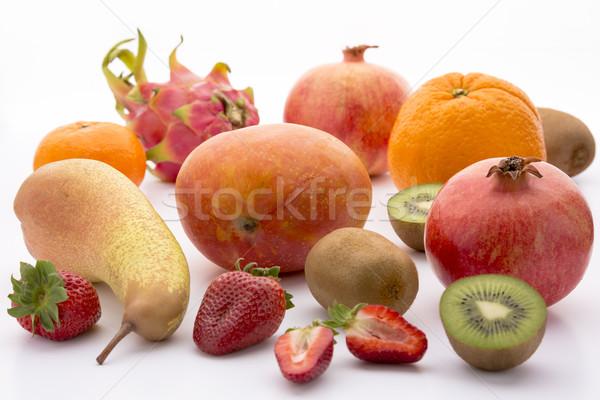Fortalecimento exótico mediterrânico frutas manga laranja Foto stock © leowolfert