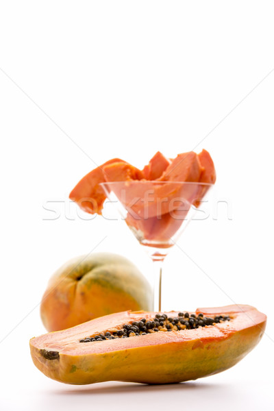 Pawpaw fruit, Carica papaya Stock photo © leowolfert
