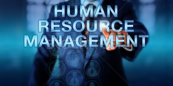 Manager Pressing HUMAN RESOURCE MANAGEMENT Stock photo © leowolfert
