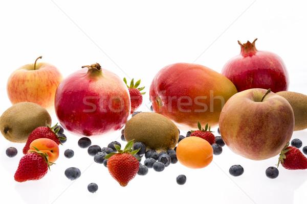 Assorted Fruit With Multivitamin Powers Stock photo © leowolfert