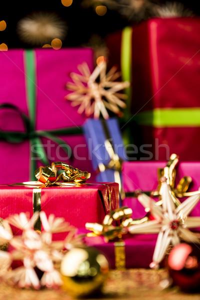 красный шкатулке лук шесть Рождества Сток-фото © leowolfert