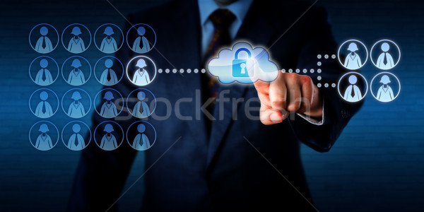 Manager Outsourcing A Work Task Via The Cloud Stock photo © leowolfert