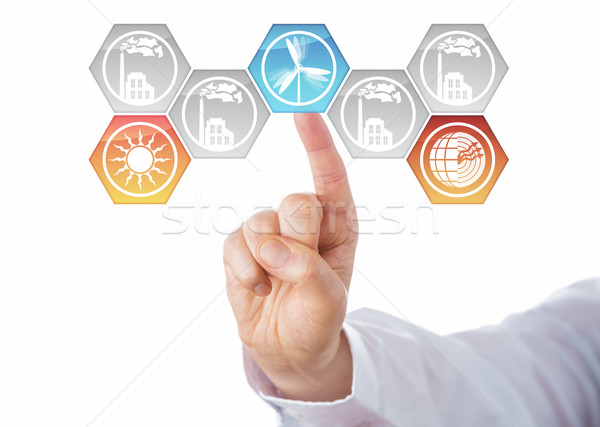 Selecting Solar, Wind And Geothermal Energy Stock photo © leowolfert