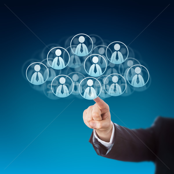 Finger Clicking On Human Resources In The Cloud Stock photo © leowolfert
