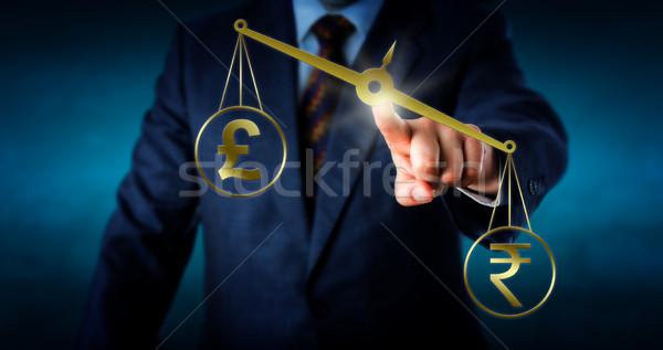 индийской фунт валюта символ британский знак Сток-фото © leowolfert
